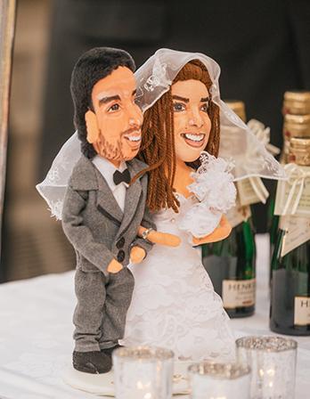 figuras de novios personalizadas para pastel de boda hechas a mano baratas con tu cara