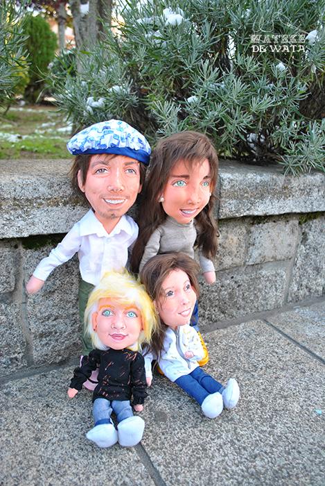 muñecos personalizados 3d mini yo de trapo con tu cara de familia con niñas