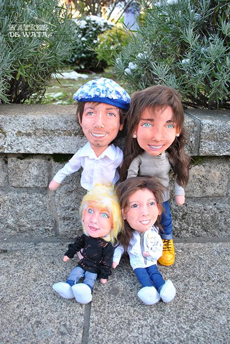 muñecos personalizados mini yo de familia argentina