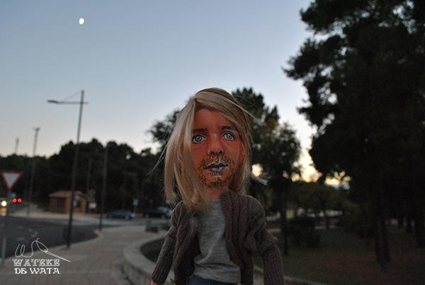 figura realista Kurt Cobain detalle de cara