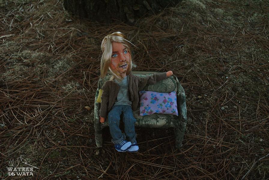 figura tela Kurt Cobain cara personalizada