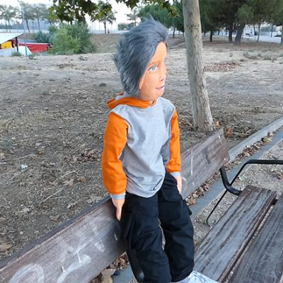muñeca gigante un metro de altura personalizada trapo tamaño real