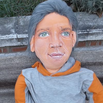marioneta muñeca personalizada gigante a tamaño real de trapo con tu cara