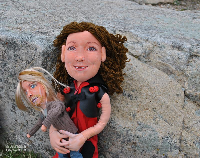 muñecas personalizadas con tu cara y nombre de trapo