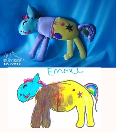 muñecos de trapo personalizados para niños de dibujos hechos a mano