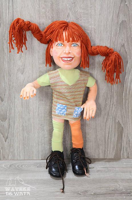 muñeca Pipi Calzaslargas de trapo personalizada para regalar