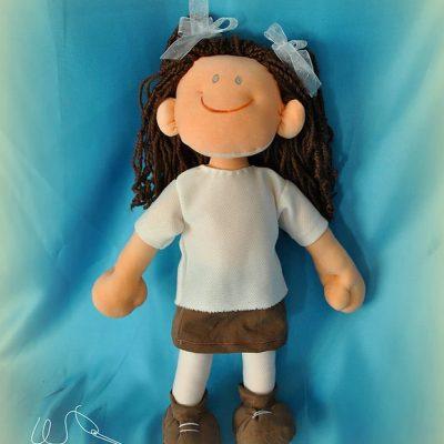 compra muñeca personalizada de trapo para niñas hecha a mano