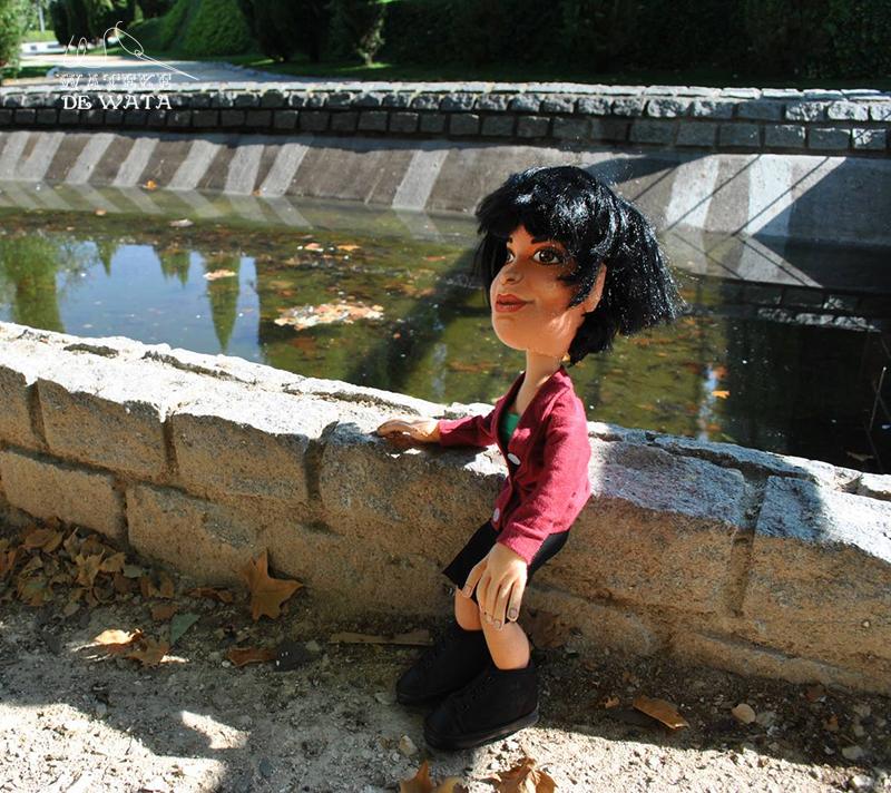 muñecas arteasnales con tu cara. Amelie Poulain custom doll