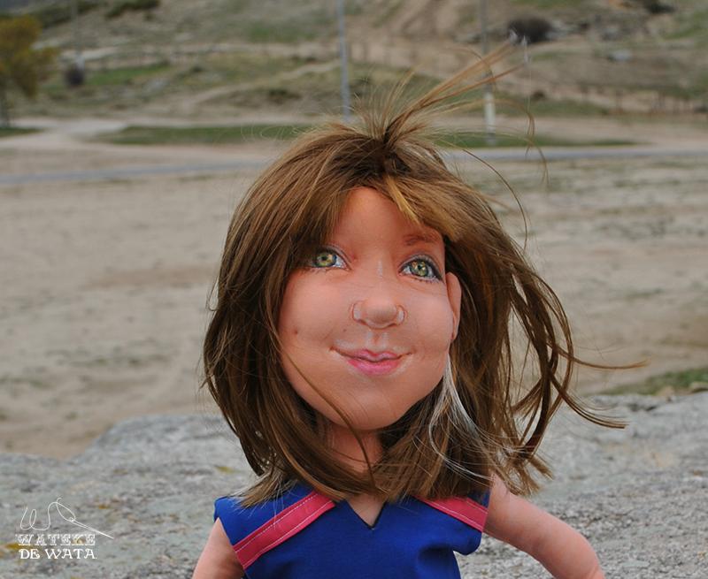 muñecas personalizadas con tu cara y vestidas de trapo hechas a mano para niñas