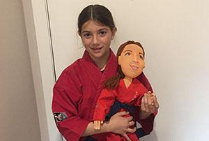 muñeca personalizada con la cara de tu hija a partir de fotos artesanal