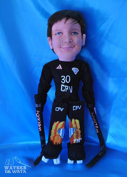 muñeco personalizado con la cara de tu hijo de trapo hecho a mano único y original
