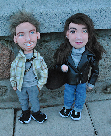 muñecos personalizados pareja con tu cara de tela económicos