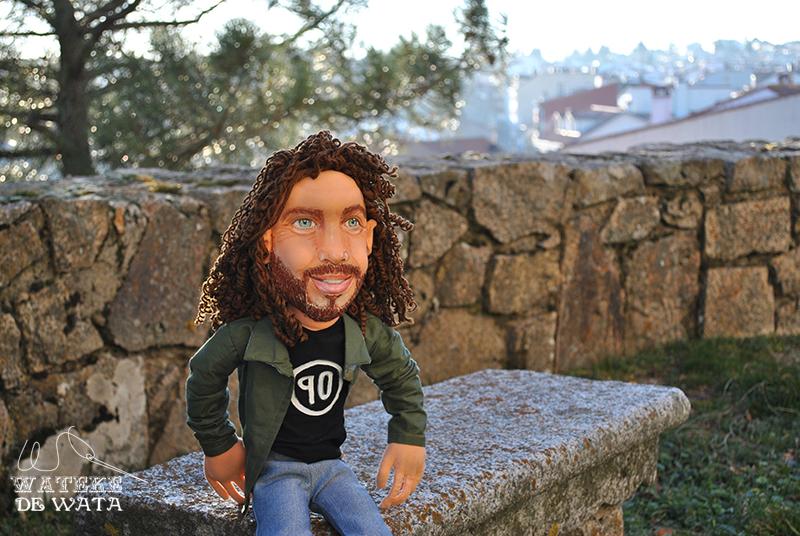 muñeco de trapo personalizado de rockero Chris Cornell hecho a mano