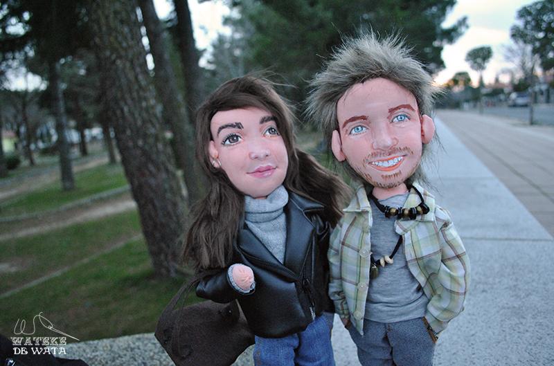muñecos personalizados de trapo artesanales y únicos para regalar novios boda