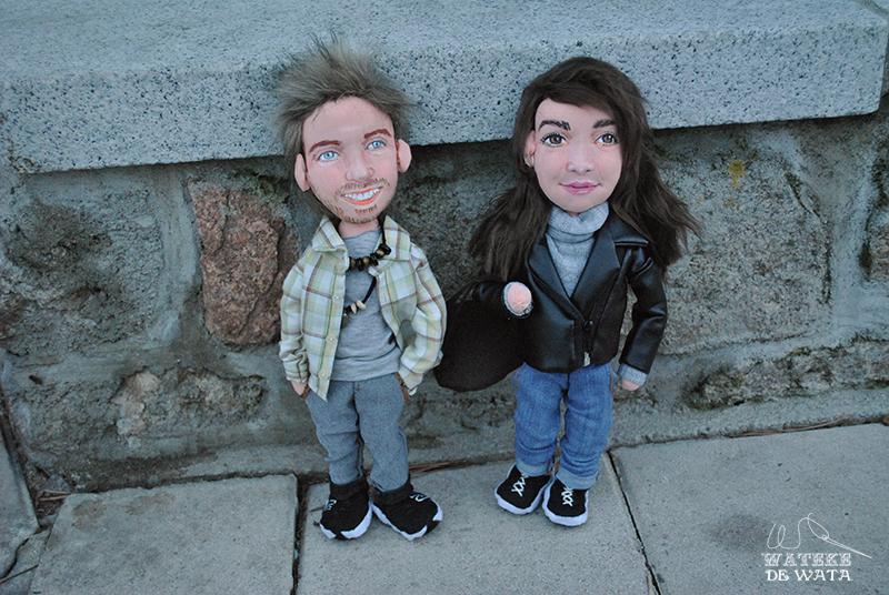 muñecos de trapo personalizados novios con tu cara