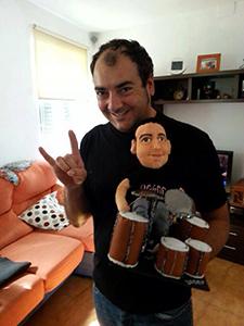 muñecos personalizados profesiones músico con tu cara mini yo de trapo