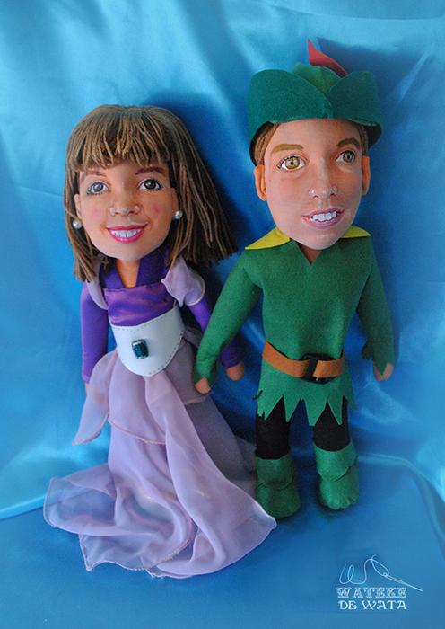 muñecos personalizados para niños con tu cara y vestidos Peter Pan Princesa