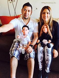 muñecos personalizados tu cara de trapo figuras baratas hechas a mano