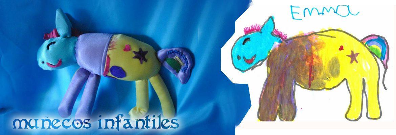 muñecos personalizados para niños a partir de dibujos infantiles