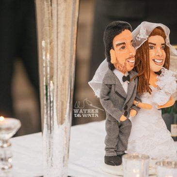 muñecos personalizados de novios, figuras hechas a mano de trapo. Regalos originales ara bodas y aniversarios