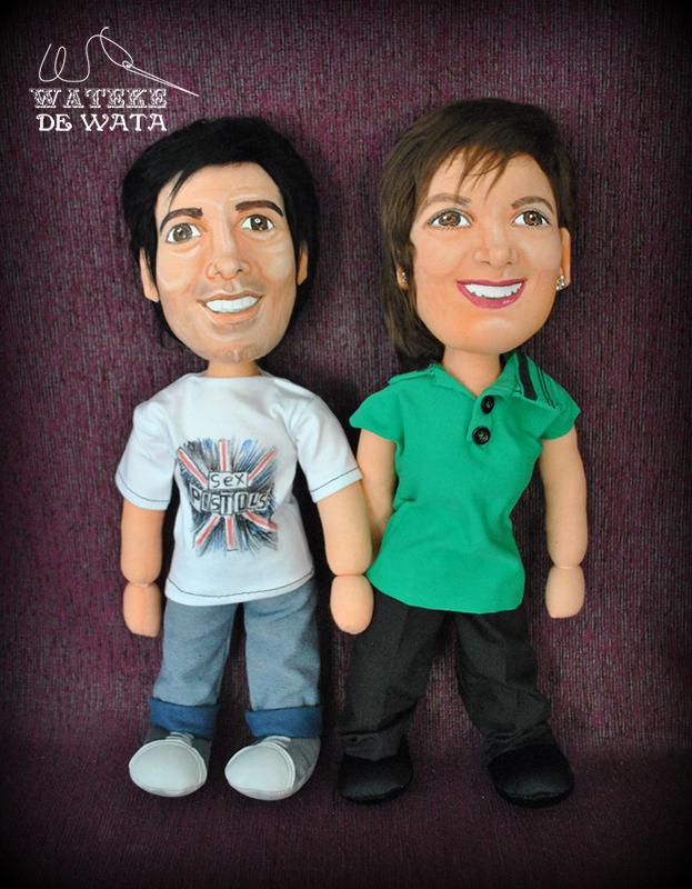 muñecos de trapo de pareja ideales para San Valentín