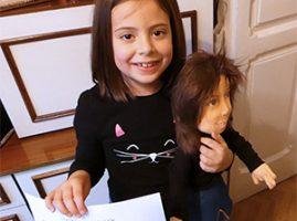 muñeca personalizada de trapo para regalar en comunión