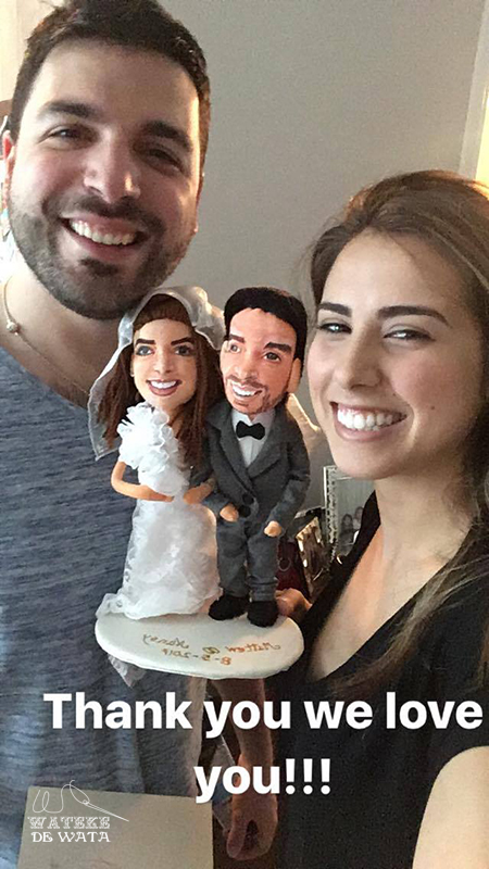 regalos originales boda, muñecos de novios con tu cara