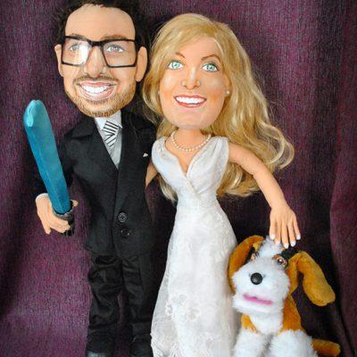 muñecos personalizados de pareja hechos a mano de trapo