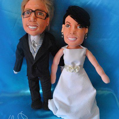 muñecos novios personalizados hechos a mano boda
