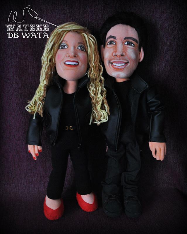 muñecos personalizados novios para boda con cara de personas