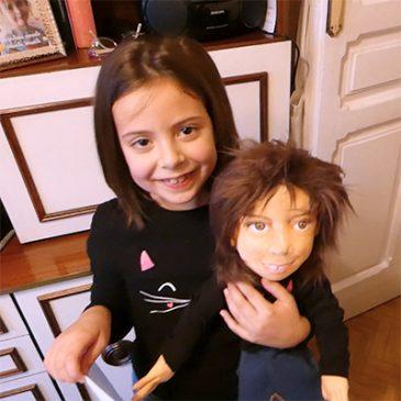 muñeca personalizada de trapo con cara niña igual