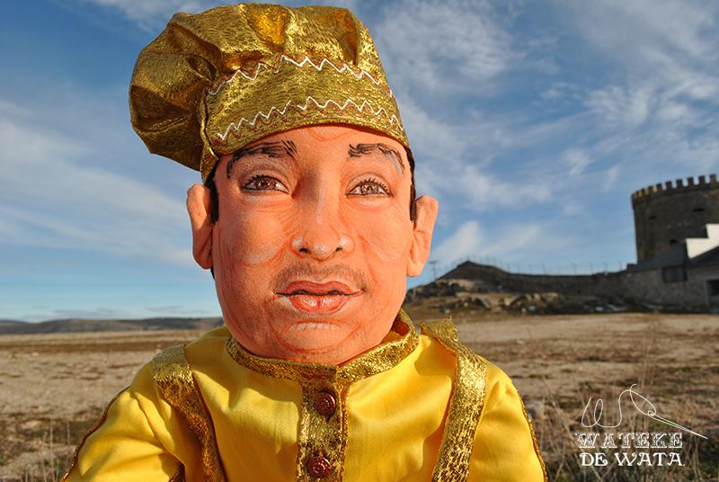 muñeco Oshun personalizado hecho a mano de trapo articulado