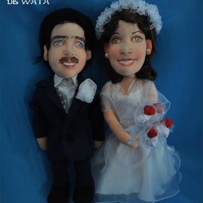 muñecos personalizados novios para tartas de boda a partir de fotos antiguas
