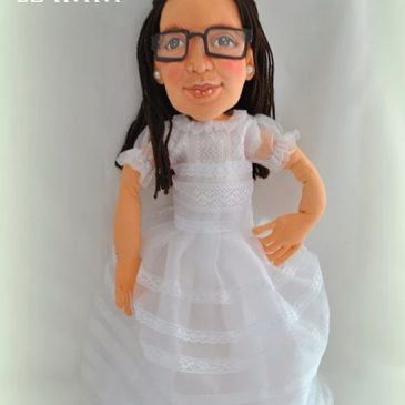 muñecas personalizadas con tu cara hechas a mano de trapo, regalos originales comunión