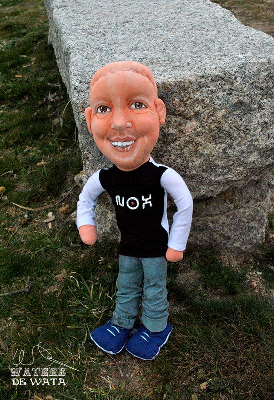 muñeco personalizado hombre calvo, regalo original día del padre