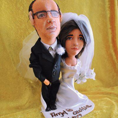 muñecos personalizados de trapo para bodas cara de novios hechos a mano