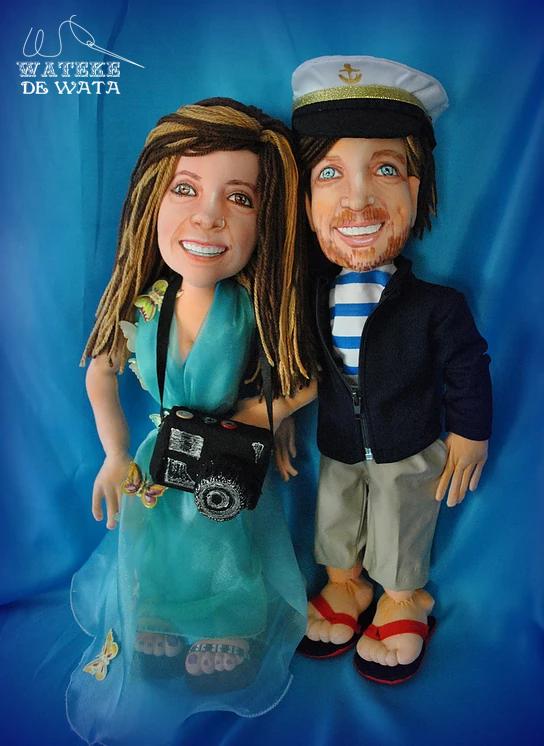 muñecos de trapo personalizados para boda baratos Madrid, Mexico
