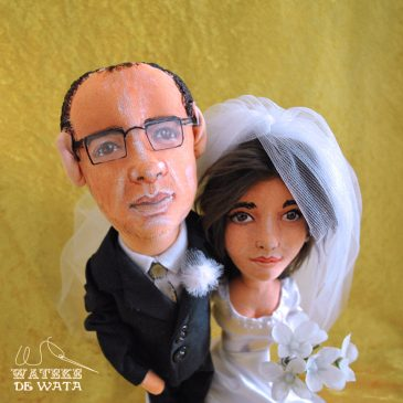 muñecos personalizados para novios hechos a mano de tela con tu cara