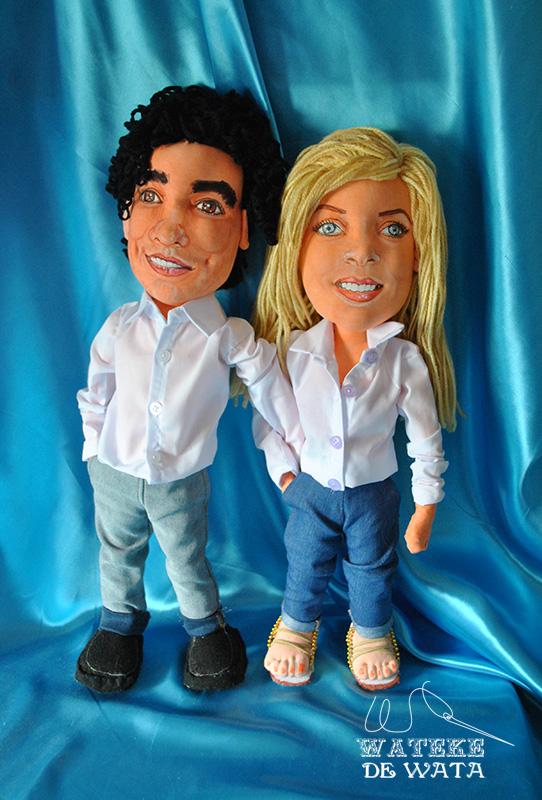 muñecos personalizados de trapo con tu cara hechos a mano para aniversario
