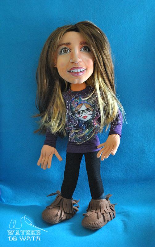muñecas personalizadas de trapo, iguales a ti, con tu cara y vestidas