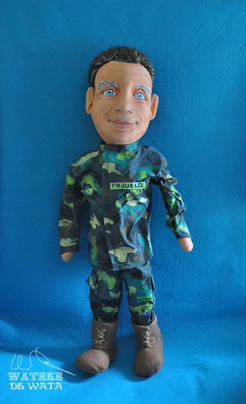 muñecos personalizados de profesiones, mini yo de militar