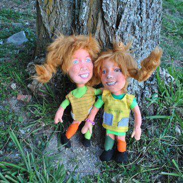 muñecas de trapo de Pipi Calzaslargas