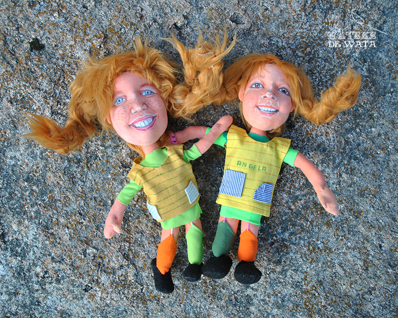 muñeca de trapo Pipi Langstrumpf, hecha a mano