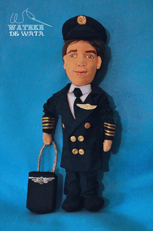 muñecos personalizados profesiones, mini yo de piloto