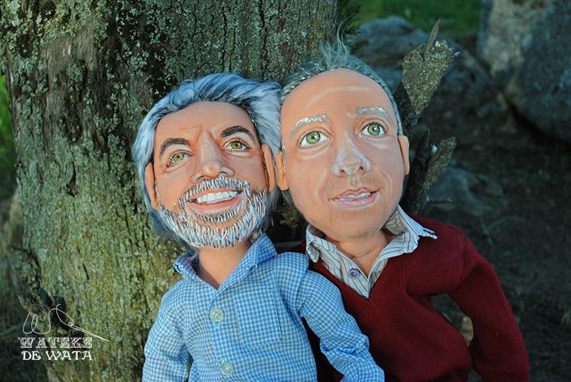 muñecos boda gay personalizados, de trapo