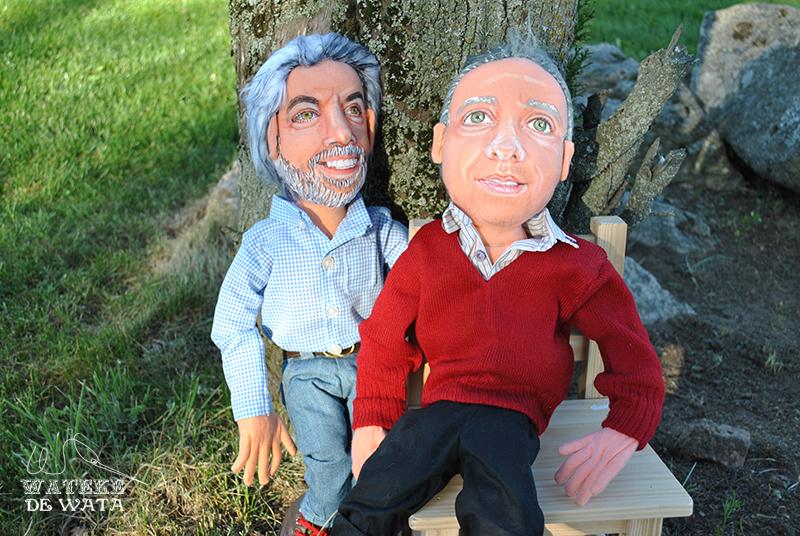 muñecos retrato hechos a mano, de trapo