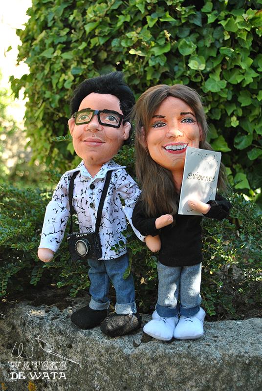 muñecos personalizados de novios con tu cara, hechos a mano