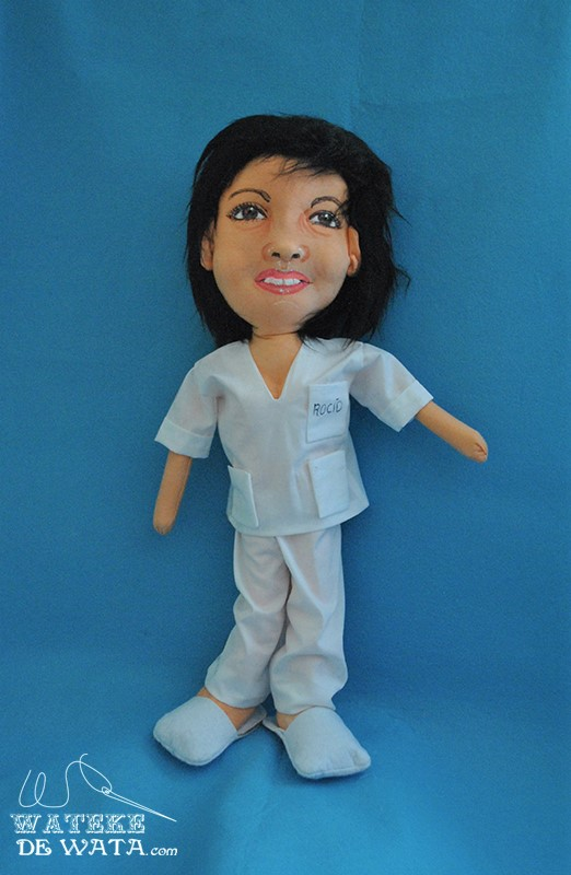 muñecas de profesiones hechas a mano, de trapo