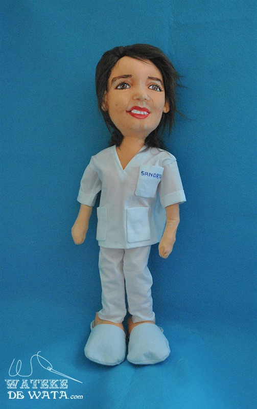 muñecas de oficios con tu cara, figura de enfermera