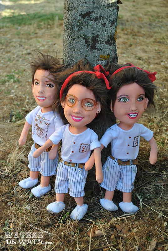 muñecos personalizados de niños hechos a mano